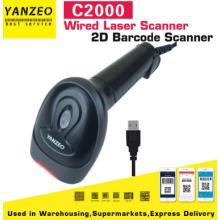 Yanzeo C2000 2D USB Wired Reader QR PDF417 Supermarket Datametrix Barcode Scanner