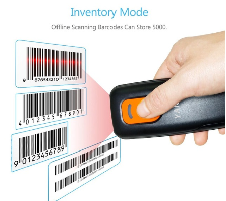 P1600 Mini 1D QR Pocket Wireless Bluetooth Barcode Scanner Laser Portable Reader Red Light CCD Barcode For IOS Android Windows