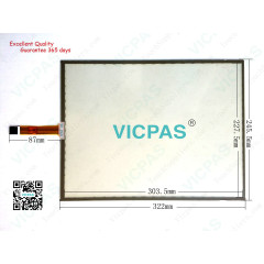 5 Wire Resistive Touch Screen Panel SCN-1510-5W-TFT