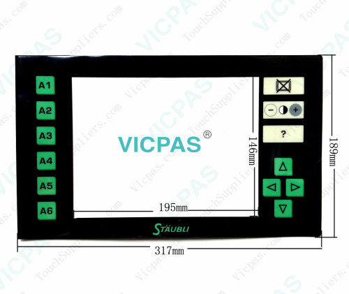 Touch panel glass for Staubil JC5 JACQUARD repair replace