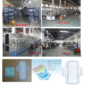 Automatic shifting type quick-easy package sanitary napkin machine