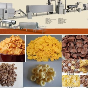 Breakfast cereals corn flakes machine