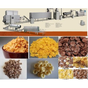Breakfast cereals corn flakes machine