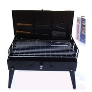 Hot selling convenient suitcase type barbecue grill