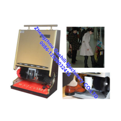 public coin operated shoe cleaning machine