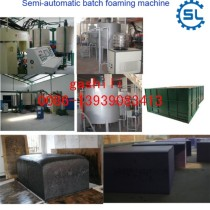Polyurethane semi-automatic batch sponge foam foaming making machine