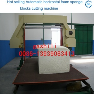 Good quality Automatic Horizontal Foam Sponge Blocks Cutting Machine