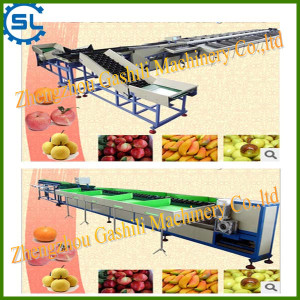 Hot selling PLC electronic fruits grading machine