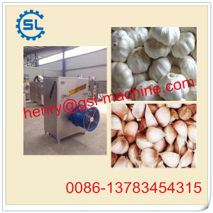 Automatic garlic segment separating machine