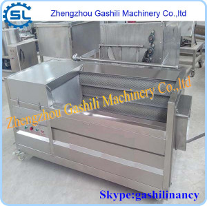 Profession experience brush type ginger peeling machine