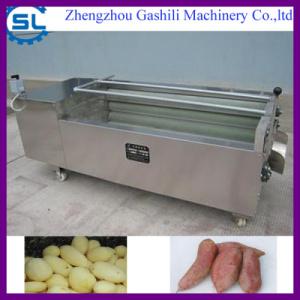 stable performance carrot washing peeling machine
