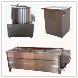 60kg/h semi automatic potato chips making machine