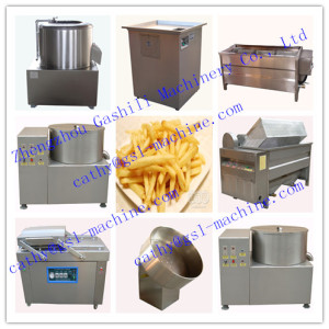 semi and full automatic french fries making line