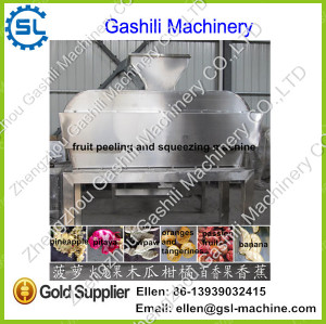 Stainless steel banana peeling and squeezing juice machine