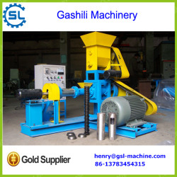 Factory supply dry type floating fish feed extruder machine