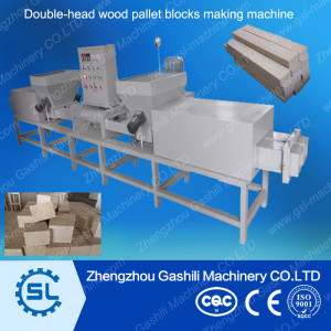Automatic wood pallet blocks making machine