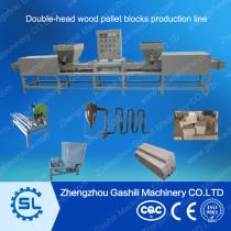 Automatic wood sawdust pallet blocks production line