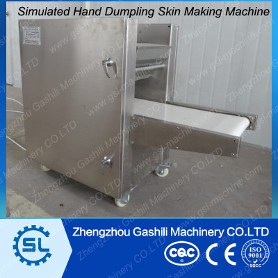Simulated Hand Making Chinese Dumpling Skin Machine JiaoZi Skin Making Machine