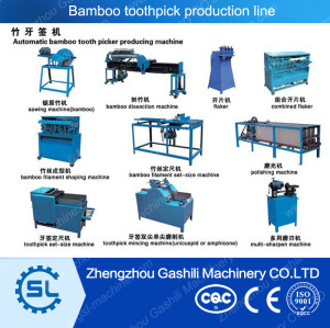 Automatic bamboo tooth picke making machine