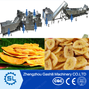 1000kg/h stainless steel dried mango slices processing machine with high performance