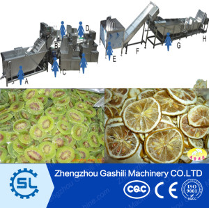 high efficient stainless steel dried fruit slices making line