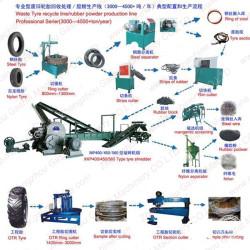 waste tyre recycling machine tyre powder making machine