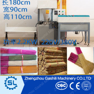 Automatic Incense Stick Machinery bamboo incense stick making machine