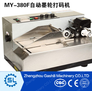 Automatic Dry Ink Stainless Steel Batch Coding Machine Soild-wheel Ink Coder