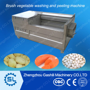 Professional vegetable bursh washing and peeling machine 0086-13939083462