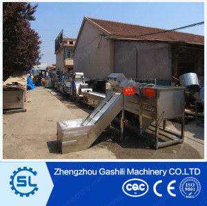 full automatic stainless steel potato chips processing machine