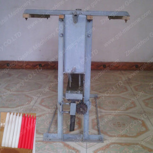 Home made manual candle making machine china