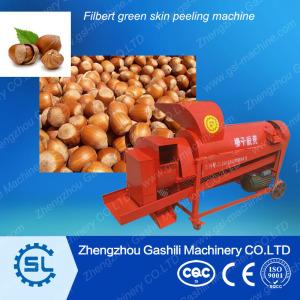Plant price Hazelnut /filbert green skin peeling machine