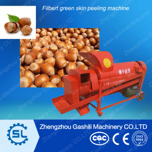 Plant price Hazelnut /filbert green skin peeling machine