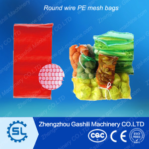 PE round wire mesh bags