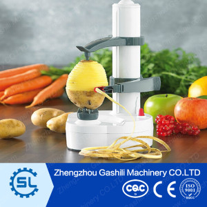 Electric potato peeling machine for household