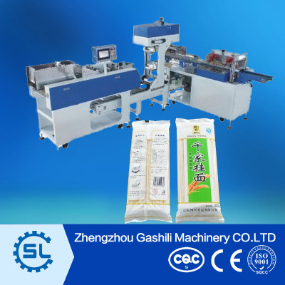 Dry noodle automatic weighting and packing machine