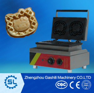 electric 2pcs hello kitty waffle making machine