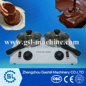 2 tanks Electric chocolate melter / chocolate melting machine