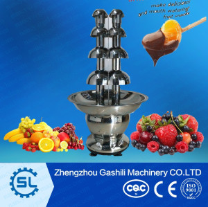 Double tower chocolate fountain machine chocolate fondue fountain