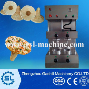 Stainless steel 2 moulds per batch electric pizza cone maker for umbrella cone