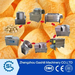 small scale stainless steel potato chips processing machine