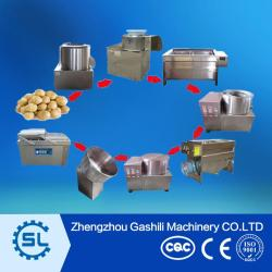 small scale stainless steel french fries processing machine