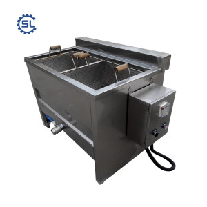 Hot selling low cost semi-automatic potato chips processing machine / potato chips fryer