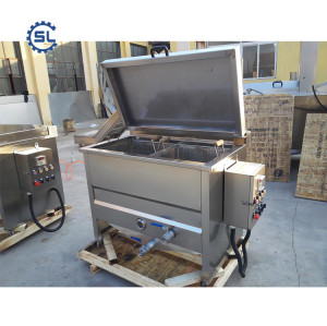GSL type Peanut Frying Machine Delicious Fried Chicken Gas Fryer