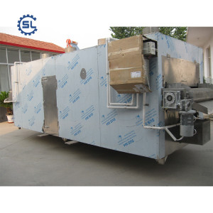 Newest design durable high efficient continuous peanut roasting machine