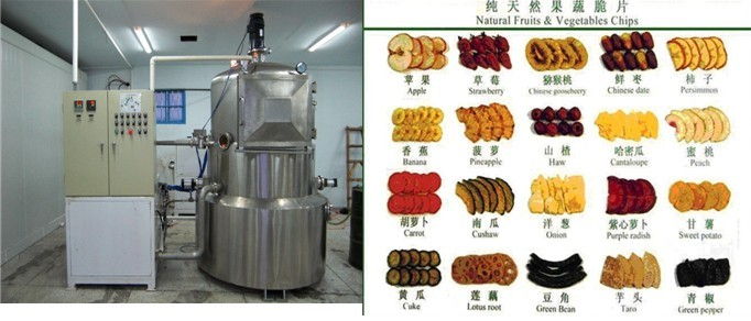 vacuum frying machine for fruit and vegetable