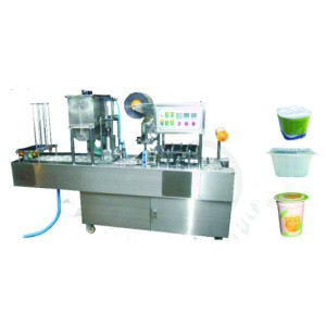 two-cup fill and sealing machine for honey, jelly