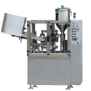 Aluminum tube filling and sealing machine for medicine