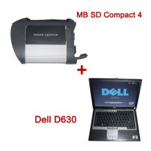 MB SD Connect Compact 4 Star Diagnosis 2014.12V Plus Dell D630 Laptop