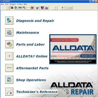 ALLDATA 10.50 global automotive maintenance information inquiry system